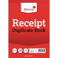 Silvine Dupl 105x148mm Receipt Book Pk12