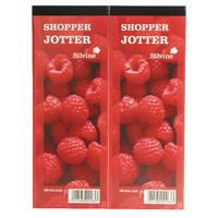 Silvine Shopper Red Jotter Pk24