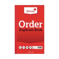 Silvine Duplicate Order Book Pk6 610