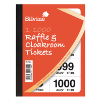 Cloakroom and Raffle 1-1000 Tickets Pk6