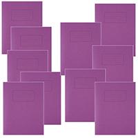 Silvine Purple 9x7 Exercise Book Pk10
