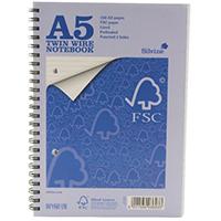 Silvine A5 Twinwire Notebook Pk5 FSCTWA5