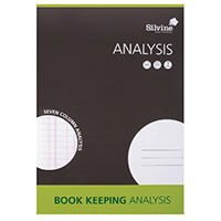 Silvine A4 Analysis Pad 7 Column Pk6