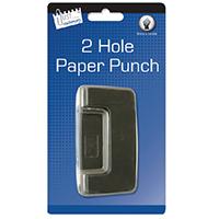Tallon Black 2 Hole Paper Punch Pk12