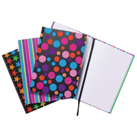 A5 Fashion Casebound Notebook Astd Pk5
