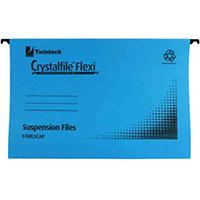 Crystalfile Flexi Blue Foolscap Pk50