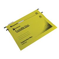Crystalfile Yellow Flexi Foolscap Pk50