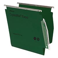 CrystalFile Green Extr Lateral File Pk25