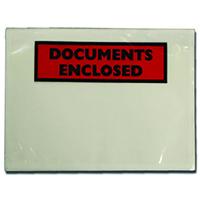 DL Documents Encl Adh Envelopes Pk100