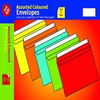 Assorted C5 P/Seal Vibrant Envelope Pk10