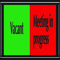 Vacant/Meeting Self Adh 225x52mm Sign