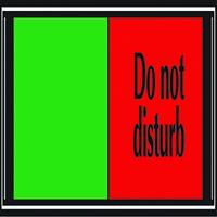 Sliding Sign Do Not Disturb V6DB/DD