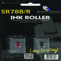Calculator IR78 Black/Red Ink Roller Pk2