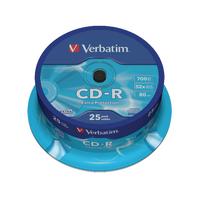 Verbatim CD-R NonPrintable Spindle 43432
