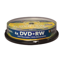 Verbatim DVD+RW Non-Print Spindle 43488