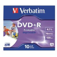 Verbatim DVD+R 16x Ink Printable 43508
