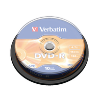 Verbatim DVD-R 16x NonPrint Spndle 43523