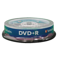 Verbatim DVD+R 16X Non-Printable 43498