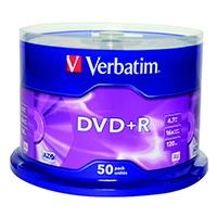Verbatim DVD+R 16X Non-Printable 43550