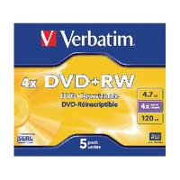Verbatim DVD+RW 4x Pk5 43229