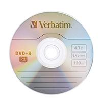 Verbatim DVD+R 16X 4.7GB Spindle 43500
