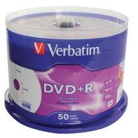 Verbatim DVD+R 16X 4.7GB Spindle 43512