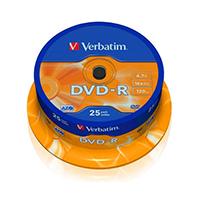 Verbatim DVD-R 16x Spindle Pk25 43522