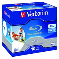 Verbatim Blu-ray BD-R 25Gb 6xJewel 43713