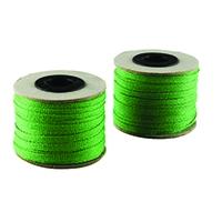 China Ribbon Cotton Green Roll 4mmx30m