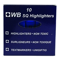 HiGlo Blue Highlighter Pens PK10
