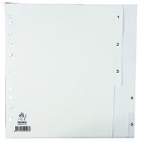 White A4 1-5 Polypropylene Index