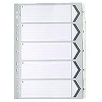 White A4 1-5 Mylar Index
