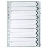 White A4 1-10 Mylar Index