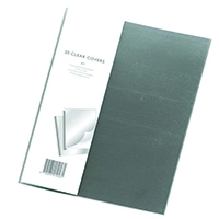 Clear Binding Covers Pk100
