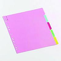 A4 Multi-Colour 5-Part Manilla Divider