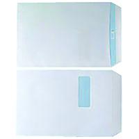 White C4 Window S/Seal Envelopes Pk250