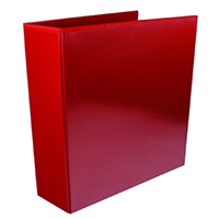 Red 65mm Pres 4D-Ring Binder Pk10