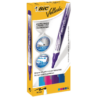 Bic Velleda Fashion Cols Dry Marker Pk4