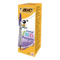 Bic Cristal Fun Purple Ball Pen Pk20
