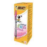 Bic Cristal Fun Pink Ball Pens Pk20