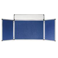 Bi-Office Blue 4 Panel Mini Display Kit