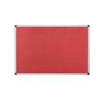 Bi-Office Red Felt 1200x900mm Board
