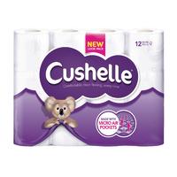 Cushelle White Toilet Roll Pk12 1102089