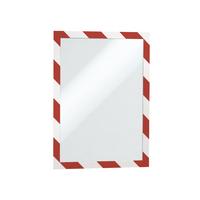 Durable A4 Red/White Duraframe Pk2