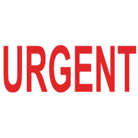 Colop Green Line Red Word Stamp URGENT