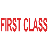 Colop Red Word Stamp FIRST CLASS