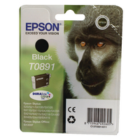 Original Epson T0891 Monkey Black Ink