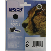 Original Epson T0711 Cheetah Black Ink