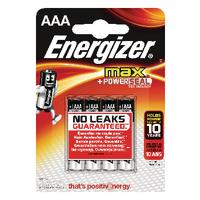 Energizer MAX E92 AAA Batteries Pk4