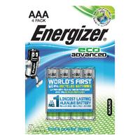 Energizer EcoAdv AAA Batteries E92 Pk4